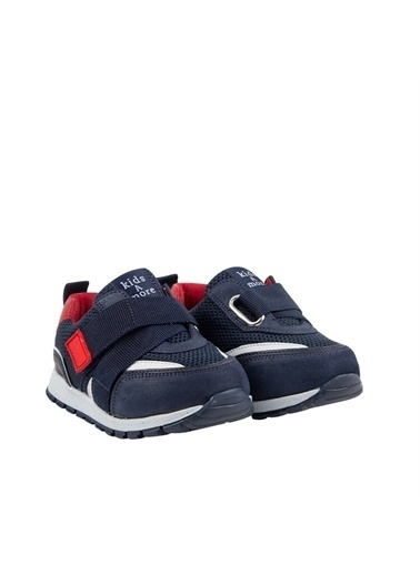 Kids A More Jasper Tek Cırtlı Lastikli Deri Ve Air File Detaylı Erkek Çocuk Sneaker Lacivert Lacivert